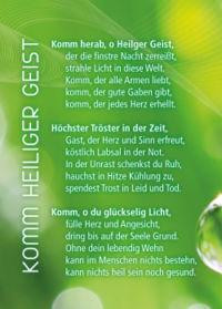 """Gebetskärtchen grün """"Gebet um den Heiligen Geist"""""""